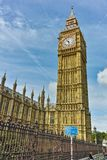 Cityscape of Westminster Palace, Big Ben and Thames River, London, England, United Kingdom Royalty Free Stock Photos