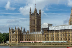 Cityscape of Westminster Palace, Thames River and Big Ben, London, England, United Kingdom Royalty Free Stock Images