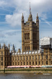 Cityscape of Westminster Palace and Thames River, London, England, United Kingdom Royalty Free Stock Photo