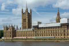 Cityscape of Westminster Palace and Thames River, London, England, United Kingdom Royalty Free Stock Image