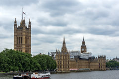 Cityscape of Westminster Palace and Thames River, London, England, United Kingdom Stock Images