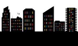 Cityscape white Stock Image