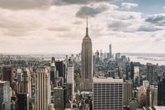 cityscape Widok Nowy Jork miasta linia horyzontu zdjęcie stock