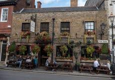 LONDON, ENGLAND - SEPTEMBER 28, 2017: Cityscape in Windsor. The Two Brewers Pub in England. Cityscape in Windsor. The Two Brewers Pub in England Stock Photography