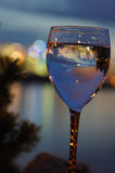 Cityscape in wine glass Royalty Free Stock Image