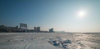 Cityscape, winter. Stock Image