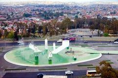 Cityscape With The Monument Of Zaragoza Ignacio In Puebla Royalty Free Stock Images