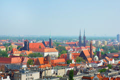 Cityscape of Wroclaw Royalty Free Stock Photo