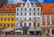 Cityscape of Wroclaw old town Market Square Stock Image