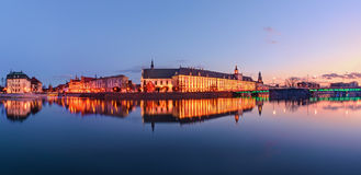A cityscape of Wroclaw, view from river Odra. Royalty Free Stock Images