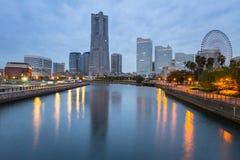 Cityscape of Yokohama city at dawn Royalty Free Stock Photography