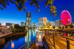 Cityscape of Yokohama city at dusk. Japan Royalty Free Stock Photo
