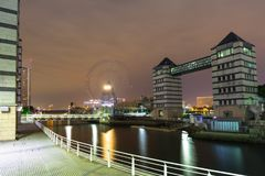 Cityscape of Yokohama city at night. Japan Royalty Free Stock Image