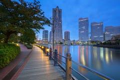 Cityscape of Yokohama city at night. Japan Stock Photography