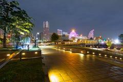 Cityscape of Yokohama city at night Royalty Free Stock Photos