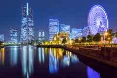 Cityscape of Yokohama city at night. Japan Royalty Free Stock Photos
