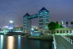 Cityscape of Yokohama city at night Stock Images