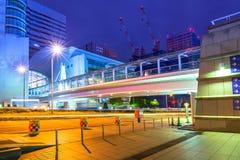 Cityscape of Yokohama city at night Stock Photography