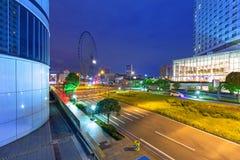 Cityscape of Yokohama city at night Royalty Free Stock Photo