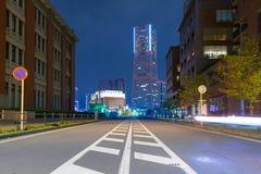 Cityscape of Yokohama city at night Royalty Free Stock Photography