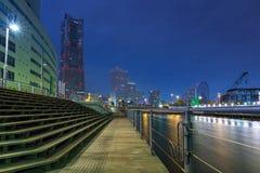 Cityscape of Yokohama city at night. Japan Stock Image