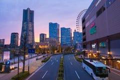 Cityscape of Yokohama, Minato mirai 21 Stock Photo