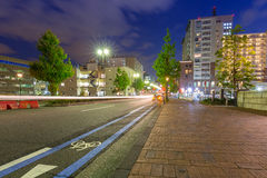 Cityscape of Yokohama at night Royalty Free Stock Photography