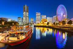 Cityscape of Yokohama at night Royalty Free Stock Image