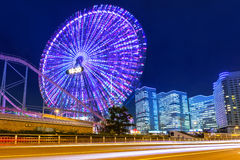 Cityscape of Yokohama at night Stock Photos
