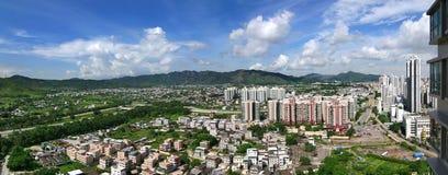 Cityscape of Yuen Long, Hong Kong. Stock Photo