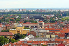 Cityscape of Zagreb, Croatia Royalty Free Stock Photos