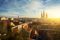 Cityscape of Zagreb, Croatia Royalty Free Stock Photo