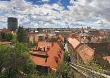 Cityscape of Zagreb Royalty Free Stock Photos