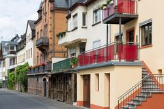 Cityscape of Zell, historic city in Germany Royalty Free Stock Photography