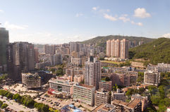 Cityscape Zhuhai and Macao. Zhuhai, China - September 2, 2012: Birdview China Zhuhai and Macao from a high building near the border port Stock Images