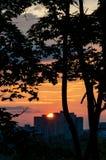 Cityscape zonsondergang Royalty-vrije Stock Fotografie