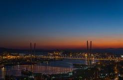 Cityscape, zonsondergang stock fotografie