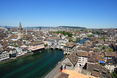 Cityscape of Zurich Switzerland Stock Image