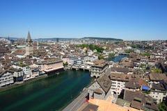 Cityscape of Zurich Switzerland stock image