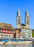 Cityscape of Zurich, Switzerland Stock Photos