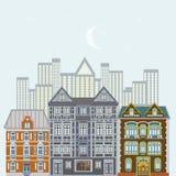 cityscapeeuropean Arkivbilder