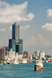 cityscapehamn Arkivbild
