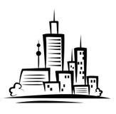 Cityscapeillustration Arkivfoton