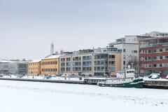 cityscapejanuari moscow russia vinter 2010 finland turku Royaltyfria Bilder