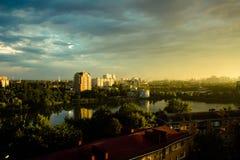 Cityscapen Arkivfoto