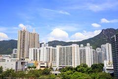Cityscapen av Lok Fu i Hong Kong royaltyfria foton
