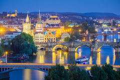 Cityscapen av Prague Arkivbild