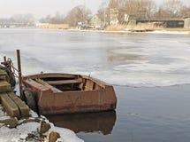 Cityscapen, Lettland royaltyfria bilder