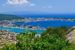 Cityscapen Trogir, Kroatien royaltyfri bild