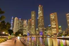 cityscapenatt singapore Arkivbilder